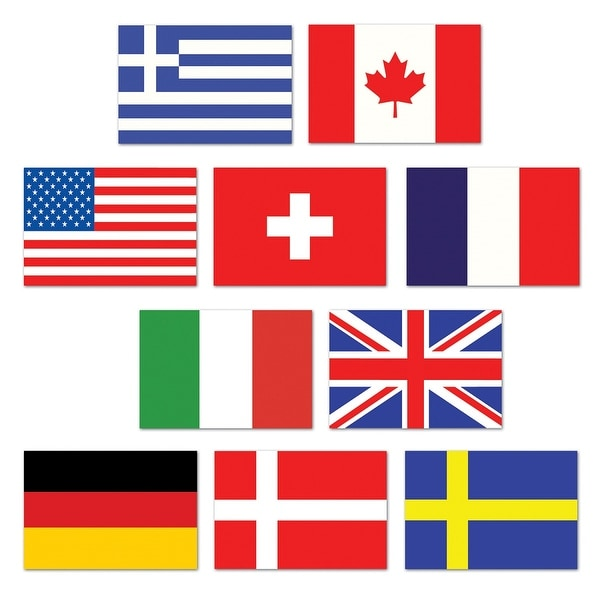 1d109c171 Party Supplies Portofino International Source · Shop Club Pack of 240 Mini International  Flags of the World Cutout Party Decorations 4 5