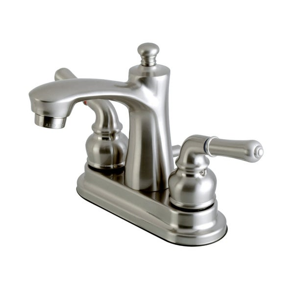 Kingston Brass FB762.NML Naples 1.2 GPM Centerset Bathroom Faucet with Pop-Up Drain Assembly and Metal Handles