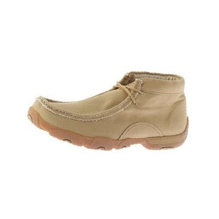 Twisted X Casual Shoes Mens Red Buckle Canvas Mocs Khaki MDM0051