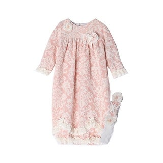 Isobella & Chloe Baby Girls Pink Vintage Rose Layette Sack