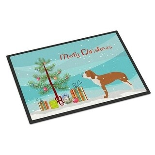Carolines Treasures BB2909JMAT Spanish Hound Merry Christmas Tree Indoor or Outdoor Mat 24 x 36