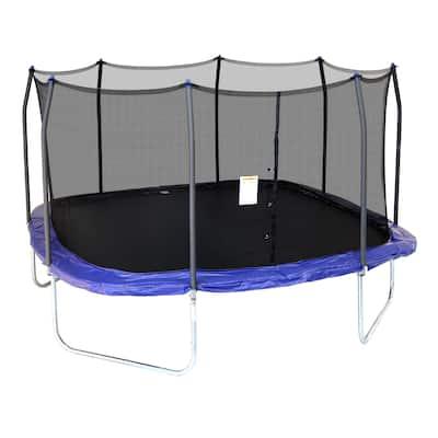 Skywalker Trampolines 14' Square Trampoline with Enclosure - Blue