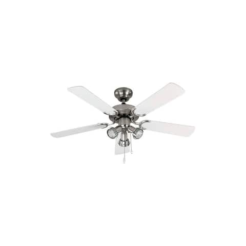 "Canarm CF6142551S Catalyst 42"" 5 Blade Ceiling Fan with Light Kit - Brushed Pewter"