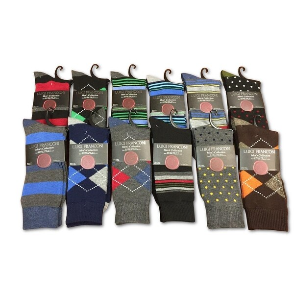 12 Pack: Luigi Franconi Men's Dress Socks