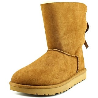 Ugg Australia Bailey Bow II Women Round Toe Suede Tan Winter Boot