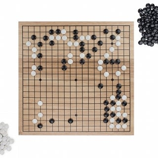 Game of Go Set with Wooden Board & Complete Set of Stones