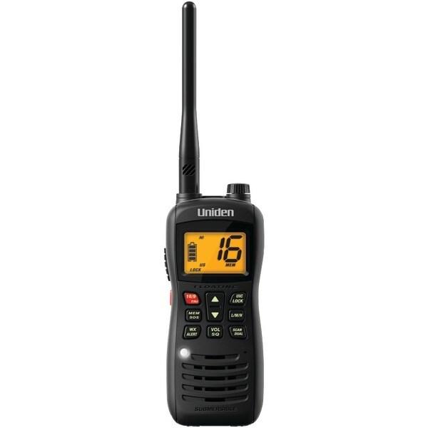 Uniden Mhs126 Handheld Floating 2-Way Vhf Marine Radio