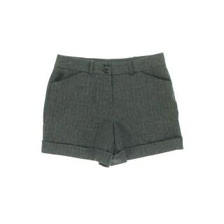 BCX Womens Juniors Cuffed High Waist Dress Shorts - 1