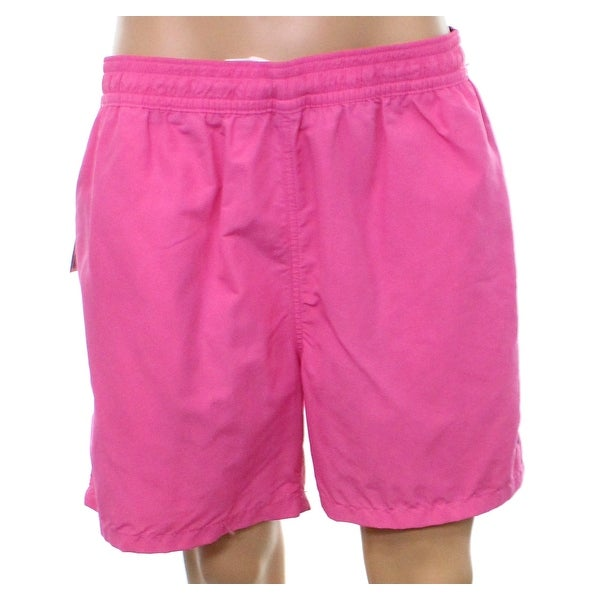 7696b04f39a1c ... italy polo ralph lauren new pink mens size 2xl solid swim trunks  swimwear ac96e 19b7a