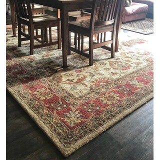 Shop Hand Tufted Nia Traditional Wool Area Rug 8 X 11