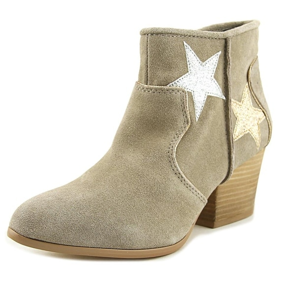 Mojo Moxy Tracery Women Pointed Toe Suede Tan Western Boot