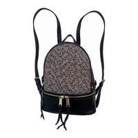 Bernie Mev Women's BM34 Medium Backpack Black Nylon/Leather/Endure - US Women's One Size (Size None)