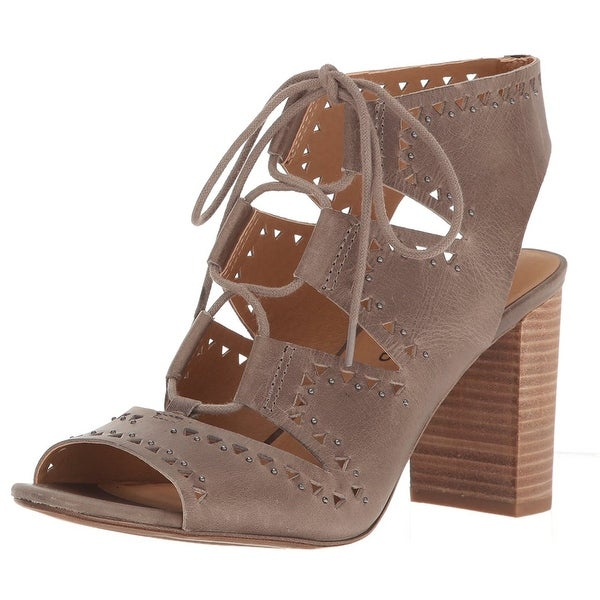 Lucky Brand Womens Tafia Leather Open Toe Casual Ankle Strap Sandals