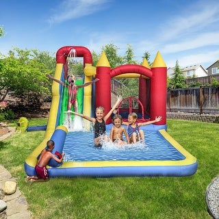 Link to ALEKO Inflatable 6-In-1 Bounce House with Slide, Splash Pool, and Ball Pit - Multi-colored Similar Items in Outdoor Play