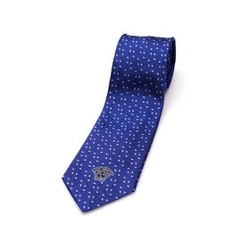 Versace Collection Men's Slim Silk Tie Blue