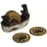 Rivers Edge Products REP2040 Bears In Boat Coaster Set