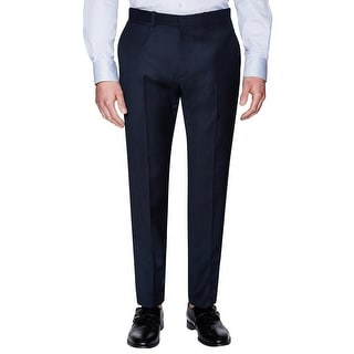 Theory Marlo Higgins Slim Fit Wool Flat Front Dress Pants Eclipse Blue