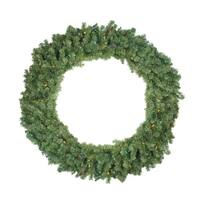 "48"" Pre-Lit Canadian Pine Artificial Christmas Wreath - Multi Lights - green"