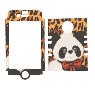 Unlimited Cellular Rocker Snap-On Case for Apple iPhone 4/4S (Yellow Giraffe wit