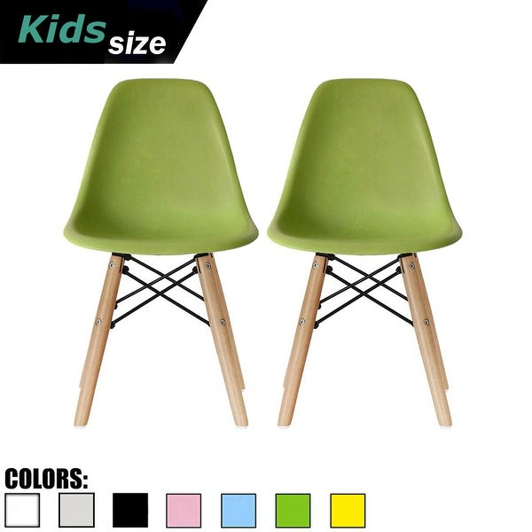2xhome Set of Two Kids Chair Side No arm Armless Natural Wood Legs Eiffel For Kitchen Desk Work Bedroom Playroom Preschool. Opens flyout.