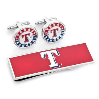 Texas Rangers Cufflinks and Money Clip Gift Set MLB - Red