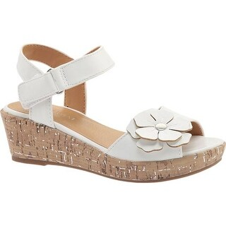 Nine West Kids Girls' Nickey Quarter Strap Sandal White Smooth