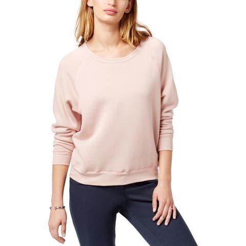 Project Social T Womens Sweatshirt Fleece Lined Raglan Sleeves