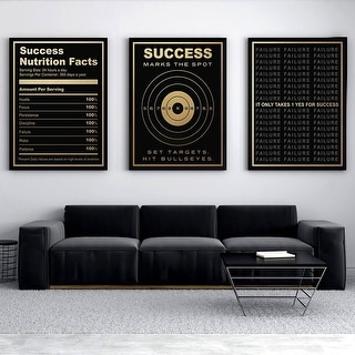 IKONICK Success Is Golden Bundle Canvas Art