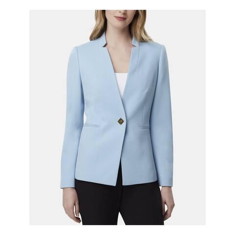 TAHARI Womens Light Blue Wear To Work Jacket Size 16P