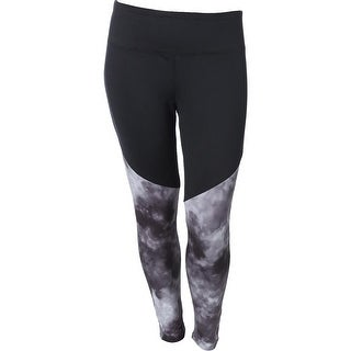 The Balance Collection Womens Plus Charlotte Athletic Leggings Yoga Fitness