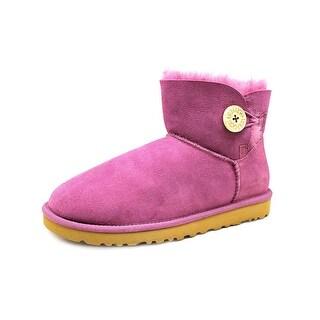 Ugg Australia Mini Bailey Button Women Round Toe Suede Purple Winter Boot