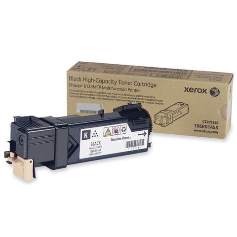 Xerox 106r01455 standard capacity black toner cartridge (3100 pages) for phaser 6128mfp