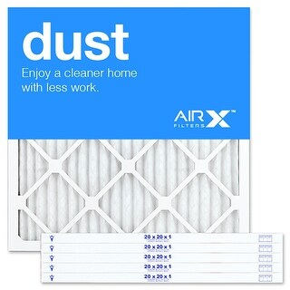 Replacement Air Filter 20x20x1 MERV 8 Comparable to Filtrete Allergen Defense MPR 800, Clean Living MPR 600, 6Pk