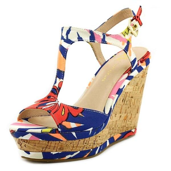 LFL Lana Women Open Toe Canvas Blue Wedge Sandal