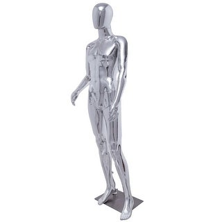 Costway Male Full Body Mannequin Plastic Abstract Egg Head Glossy w/base