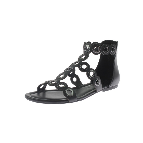 Jessica Simpson Womens Korva Flat Sandals Open Toe Grommet
