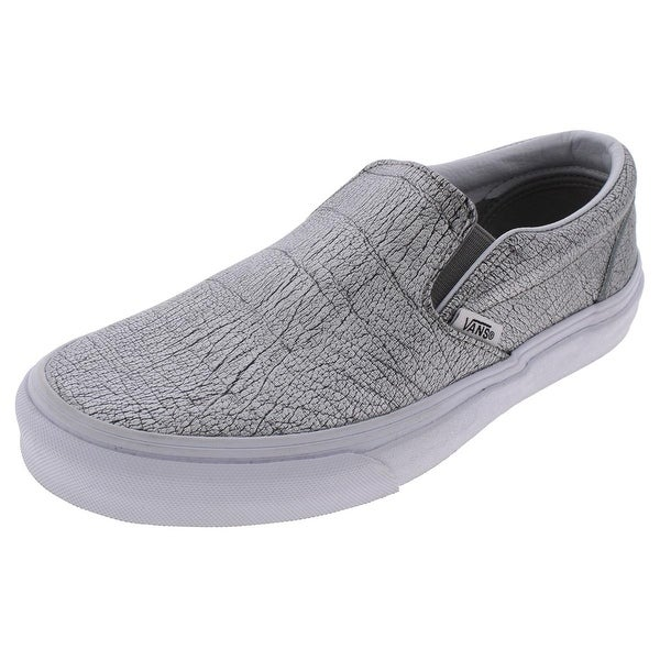 Womens Classic Slip-On Metallic Low Top Skate Shoes