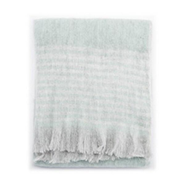 "Blue/Gray Wool, Acrylic & Polyester Throw - HAM02 50""x60"""