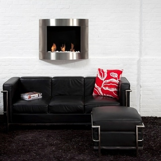 Bio Blaze BB-D1I Diamond Type 1 Wall Mount Fire Place, Stainless - Silver