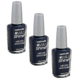 Wet n Wild Wild Shine Nail Color, Blue Moon [466], 3 pack