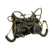 Spiked Metallic Steampunk Bat Ears Half Face Adult Mask