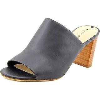Via Spiga Wynola Women Open-Toe Leather Black Mules