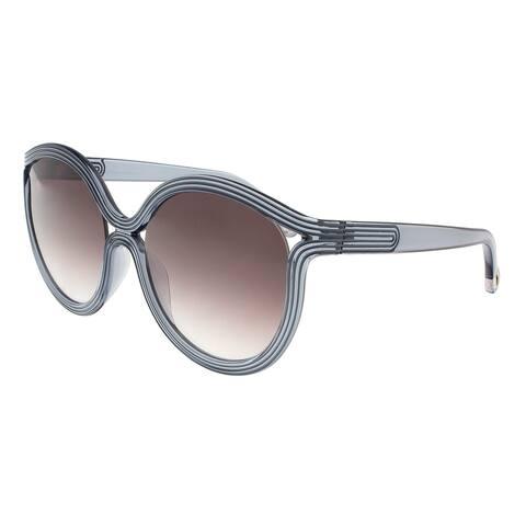 Chloe CE738/S 449 Avio Blue Round Sunglasses - 57-20-135