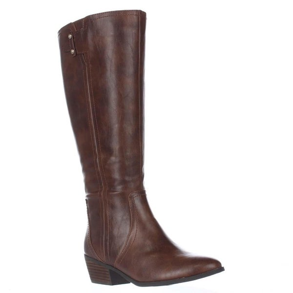 Dr. Scholl's Brilliance Wide Calf Riding Boots, Whiskey