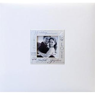 "Wedding - White - Expressions Post Bound Album 8""X8"""