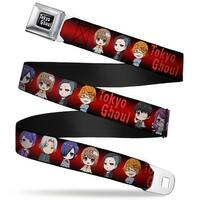 Tokyo Ghoul Full Color Black White Tokyo Ghoul 8 Chibi Characters Pose Seatbelt Belt