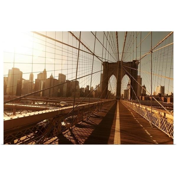 """Brooklyn Bridge."" Poster Print"