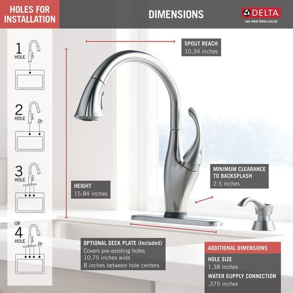 Delta Addison Single Handle Pull Down Kitchen Faucet With Touch2o Technology And Soap Dispenser 9192t Arsd Dst Arctic Stainless On Sale Overstock 9540195