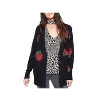 Sanctuary Womens Rosetta Cardigan Sweater Floral Print V-Neck