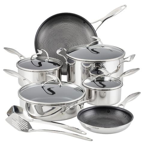 Circulon SteelShield C-Series Tri-Ply Clad Nonstick Cookware Plus Bonus Utensil Set, 10-pc